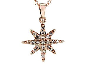 Champagne Diamonds 10K Rose Gold Pendant 0.25ctw