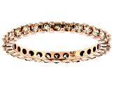 Champagne Diamond 10K Rose Gold Eternity Band Ring 0.94ctw