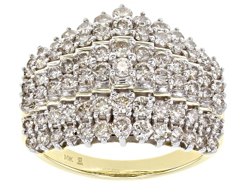 Picture of Candlelight Diamonds™ 10K Yellow Gold Pyramid Ring 2.00ctw
