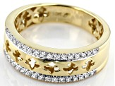 White Diamond 10k Yellow Gold Mens Ring 0.33ctw