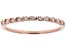White Diamond 10k Rose Gold Ring 0.17ctw