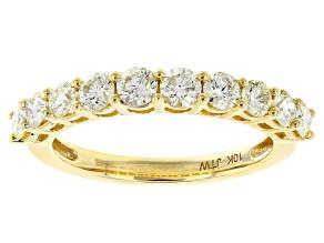Natural Yellow Diamond 10k Yellow Gold Band Ring 1.00ctw