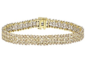 Diamond 10K Yellow Gold Tennis Bracelet 6.00ctw