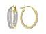 White Diamond 10K Yellow Gold Hoop Earrings 1.00ctw