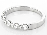 White Diamond 10k White Gold Band Ring 0.40ctw