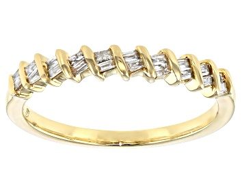 Picture of White Diamond 10k Yellow Gold Band Ring 0.15ctw
