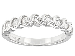 White Diamond 14k White Gold Band Ring 0.75ctw