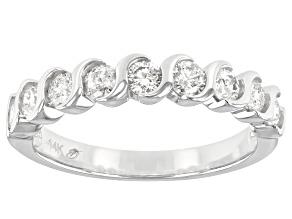 White Diamond 14k White Gold Band Ring 0.75ctw