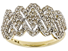 Candlelight Diamonds™ 10K Yellow Gold Wide Band Ring 1.00ctw