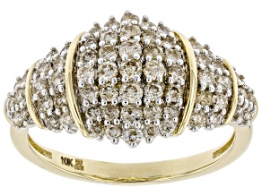 Candlelight Diamonds™ 10k Yellow Gold Cluster Ring 1.00ctw