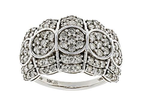 White Diamond 10k White Gold Wide Band Ring 1 50ctw Udg347 Jtv Com