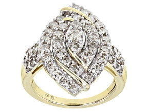 Candlelight Diamonds™ 10k Yellow Gold Cocktail Ring 2.00ctw