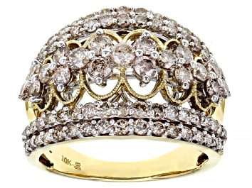 Picture of Candlelight Diamonds™ 10k Yellow Gold Open Design Ring 2.00ctw