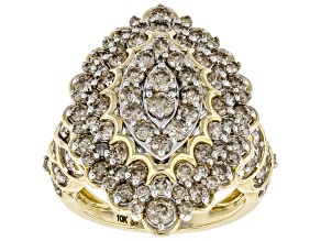 Candlelight Diamonds™ 10k Yellow Gold Cluster Ring 2.50ctw