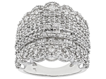 Picture of Diamond 10k White Gold Multi-Row Ring 2.59ctw