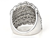 Diamond 10k White Gold Multi-Row Ring 2.59ctw