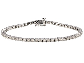 White Diamond 10k White Gold Tennis Bracelet 2.00ctw