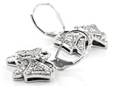 White Diamond Rhodium Over Sterling Silver Earrings 0.31ctw