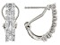 White Diamond Rhodium Over Sterling Silver J-Hoop Earrings 0.60ctw