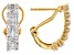 White Diamond 14k Yellow Gold Over Sterling Silver J-Hoop Earrings 0.60ctw