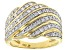 Engild™ White Diamond 14k Yellow Gold Over Sterling Silver Wide Band Ring 50ctw
