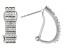 White Diamond Rhodium Over Sterling Silver J-Hoop Earrings 0.50ctw