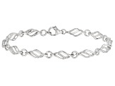 White Diamond Accent Rhodium Over Sterling Silver Tennis Bracelet