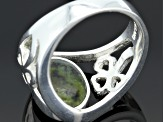 Connemara Marble Sterling Silver Turnover Ring