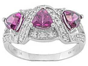 Purple Rhodolite Sterling Silver Ring 1.60ctw