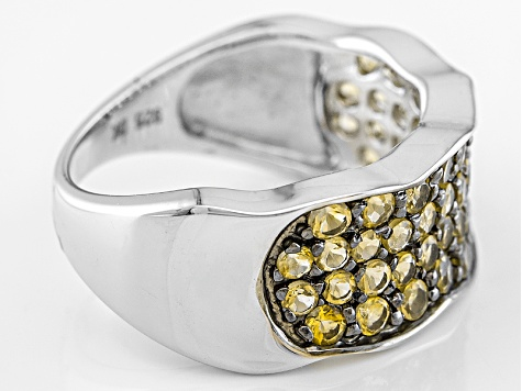 Yellow Brazilian Citrine Sterling Silver Ring 1.51ctw
