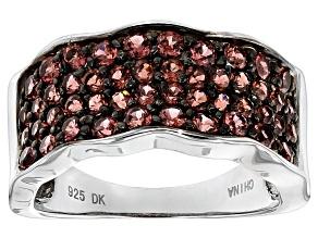 Red Garnet Sterling Silver Ring 1.51ctw