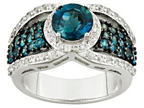 London Blue Topaz Sterling Silver Ring. 2.81ctw