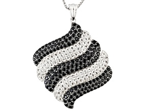 White Topaz Sterling Silver Pendant With Chain 3.48ctw