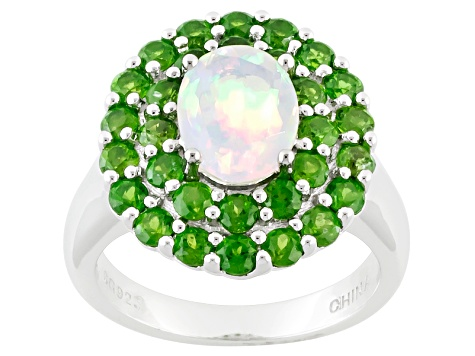 Ethiopian Opal Sterling Silver Ring 2.72ctw