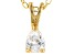 Bella Luce® .47ct Diamond Simulant 18k Gold Over Silver Pendant With Chain