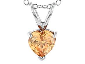 Bella Luce® 6.10ct Diamond Simulant Rhodium Over Silver Pendant With Chain