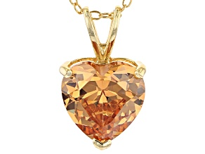 Bella Luce® 6.10ct Diamond Simulant 18k Gold Over Silver Pendant With Chain