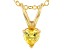 Bella Luce® .43ct Diamond Simulant 18k Gold Over Silver Pendant With Chain