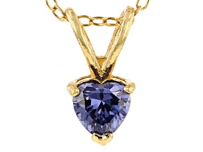 Bella Luce® .72ct Tanzanite Simulant 18k Gold Over Silver Pendant With Chain