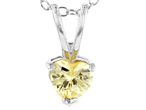 Bella Luce® .78ct Diamond Simulant Rhodium Over Silver Pendant With Chain