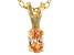 Bella Luce® .33ct Diamond Simulant 18k Over Silver Pendant With Chain