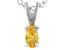Bella Luce® .31ct Yellow Diamond Simulant Silver Pendant With Chain
