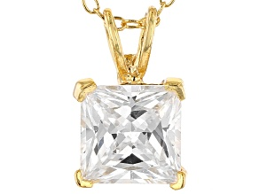 Bella Luce® 2.60ct Diamond Simulant 18k Gold Over Silver Pendant With Chain