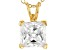 Bella Luce® 2.60ct Diamond Simulant 18k Gold Over Silver Pendant With Chain