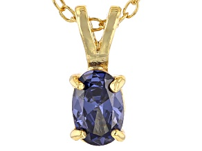 Bella Luce® .63ct Tanzanite Simulant 18k Gold Over Silver Pendant With Chain
