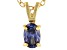 Bella Luce® .63ct Tanzanite Simulant 18k Gold Over Silver Pendant With Chain