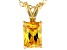 Bella Luce® 1.49ct Yellow Diamond Simulant 18k Over Silver Pendant With Chain