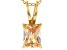 Bella Luce® 2.40ct Diamond Simulant 18k Over Silver Pendant With Chain