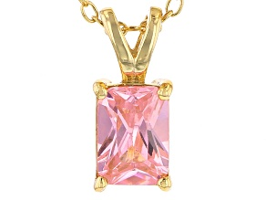 Bella Luce® 1.50ct Pink Diamond Simulant 18k Over Silver Pendant With Chain