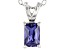 Bella Luce® .78ct Tanzanite Simulant Rhodium Over Silver Pendant With Chain